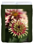 White Zinnia Duvet Cover