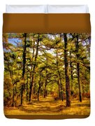 Whitebog Village Woods In New Jersey  Duvet Cover