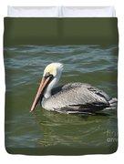 Whiteheaded Pelican Duvet Cover