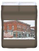 Whitehouse Ohio In Snow 7032 Duvet Cover