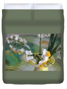 Whiteness In The Vase Duvet Cover