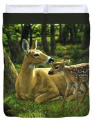 Whitetail Deer - First Spring Duvet Cover