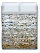 Whitewash Old Stone Wall Duvet Cover
