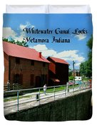 Whitewater Canal Locks Duvet Cover