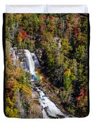 Whitewater Falls With Rainbow Duvet Cover