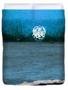 Whitewater In The Moonlight Duvet Cover