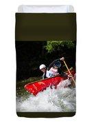 Whitewater Open Canoe Race Duvet Cover
