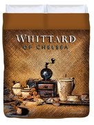 Whittard Of Chelsea Tea Coffee And Drawings Duvet Cover