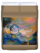 Who But You Could Leave A Trail Of Galaxies Duvet Cover by PainterArtist FIN