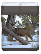 Who Me?  Oh Deer Duvet Cover