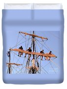 Who Was That Mast Man Duvet Cover