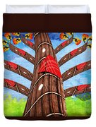 Why Pick On Me Guitar Abstract Tree Duvet Cover