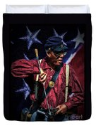 Wi Colored Infantry Sharpshooter - Oil Duvet Cover