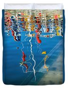 Wibbly Wobbly Flagpole Reflections Duvet Cover