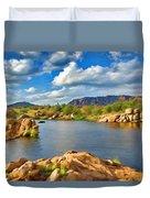 Wichita Mountains Duvet Cover