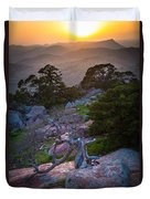 Wichita Mountains Sunset Duvet Cover