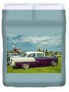 Wicked 1955 Chevy Profile Duvet Cover