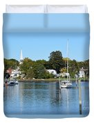 Wickford Village Waterfront Duvet Cover