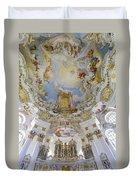 Wieskirche Organ And Ceiling Duvet Cover