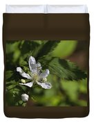 Wild Alabama Blackberry Blossom Duvet Cover