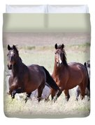 Wild And Free In The Field Duvet Cover