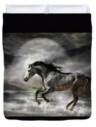 Wild As The Sea Duvet Cover by Carol Cavalaris