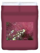 Wild Asters And Muhly Grass Duvet Cover