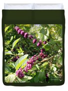 Wild Beautyberry Bush Duvet Cover