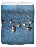 Wild Birds And Pond Duvet Cover