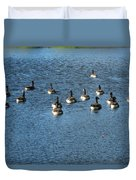 Wild Birds And Pond Duvet Cover