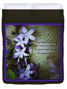 Wild Blue Flowers And Innocence 2 Duvet Cover
