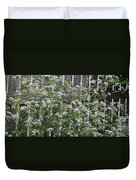 Wild Caraway And Old Fence Duvet Cover