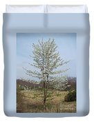Wild Cherry Tree In Spring Bloom Duvet Cover