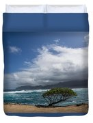 Wild Coast - Laie Point - North Shore - Hawaii Duvet Cover