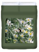 Wild Daisies And The Bumblebee Duvet Cover