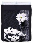 Wild Dogwood Blooms Duvet Cover