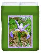 Wild Flag - Iris Versicolor Duvet Cover