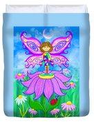 Wild Flower Fairy  Duvet Cover