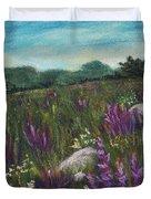 Wild Flower Field Duvet Cover