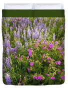 Wild Flowers Display Duvet Cover