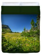 Wild Flowers Glacier National Paintedpark   Duvet Cover by Rich Franco