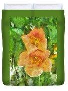 Wild Flowers Duvet Cover by Jeff Kolker