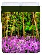 Wild Forest Violets Duvet Cover