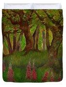 Wild Foxgloves Duvet Cover