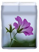 Wild Geraniums Duvet Cover