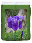 Wild Growing Iris Croatia Duvet Cover