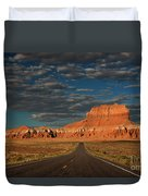 Wild Horse Butte And Road Goblin Valley Utah Duvet Cover