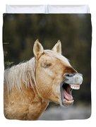 Wild Horse Chuckle Duvet Cover
