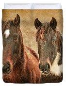 Wild Horse Pair Duvet Cover