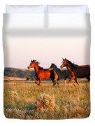 Wild Horses At Sunset Duvet Cover